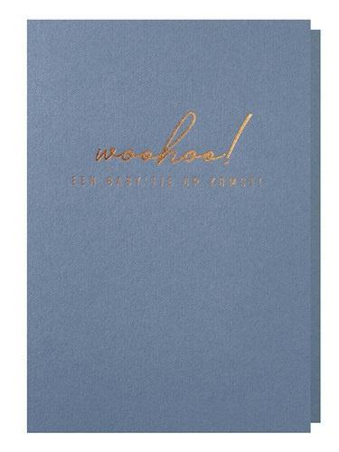 Papette Papette greeting card ocean 'Woohoo, baby op komst'