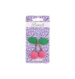 Rice Rice glitter brooch cherries
