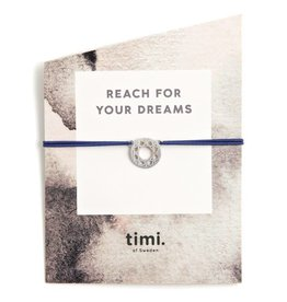 Timi Timi stretch bracelet silver - dreamcatcher blue