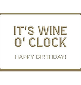 Enfant Terrible Enfant Terrible card + enveloppe 'It's wine o clock'