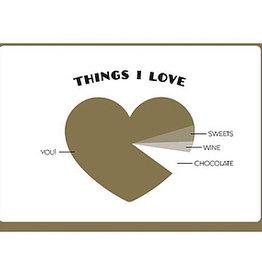 Enfant Terrible Enfant Terrible card + enveloppe 'things I love'