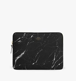 Wouf Wouf Black marble laptop sleeve 13'