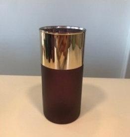Vase glass bordeaux 7.5x7.5x15 cm