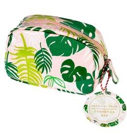 Tropical palm cosmetic bag 16x10x6 cm