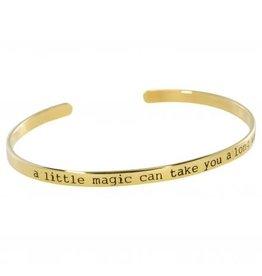 Anna + Nina Anna + Nina cuff 'a little magic' goldplated