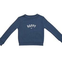 Bob & Blossom Denim blue 'happy sweater