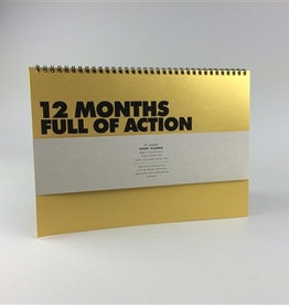 Papette Papette golden years monthly planner A4 gold