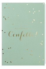 Papette Papette greeting card + enveloppe 'all you need is confetti'