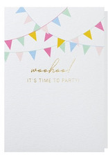 Papette Papette greeting card + enveloppe 'woohoo, it's time to party'