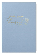 Papette Papette greeting card + enveloppe 'sip, sip, hooray!