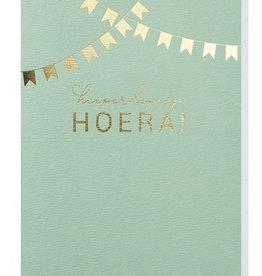 Papette Papette greeting card + enveloppe 'hieperdepiep hoera'