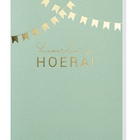 Papette Papette greeting card + enveloppe 'hiperdepiep hoera'