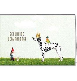 Enfant Terrible Enfant Terrible card + enveloppe 'gelukkige verjaardag' dalmatiër