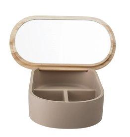 Bloomingville Storagebox with mirror brown 23x5x13.5 cm