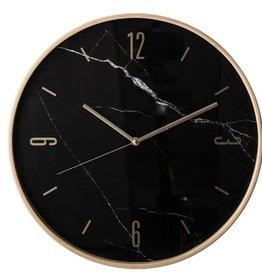 Bloomingville Wall clock black marble 41 x 5 cm