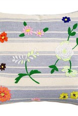 Ginger Cushion flower embrodery