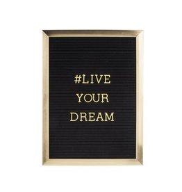 P&T Message board gold 40x50x2 cm