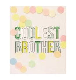 The Gift Label Confetti card - Coolest brother