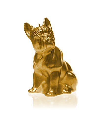 &Klevering Candle bulldog classic gold