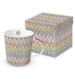 Paperproducts Design Trend mug in box 'zig zag multicolore'