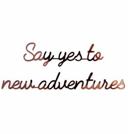 Goegezegd Goegezegd quote gold 'Say yes to new adventures'