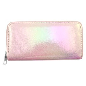 With love With love wallet metallic light pink 19x10 cm