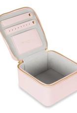 Katie Loxton Katie Loxton square jewellery box - girlie goodies - pale pink 12x12x7 cm