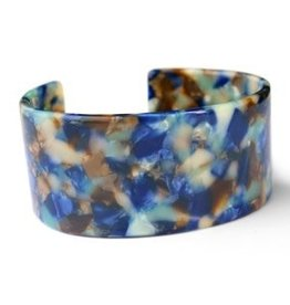 With love With Love  resin bracelet large blue