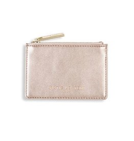 Katie Loxton Katie Loxton Alexa metallic card holder - rose gold