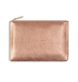 Katie Loxton Katie Loxton pouch - yay for vacay bronze 24x16 cm