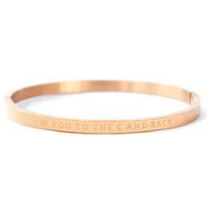 With love With love bangle rosé 'love you to the moon'