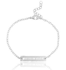 With love With love bracelet silver 'wish dream believe'