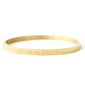 With love With love bangle gold 'one in a million'