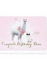 Enfant Terrible Enfant Terrible card + enveloppe 'congrats birthday diva'