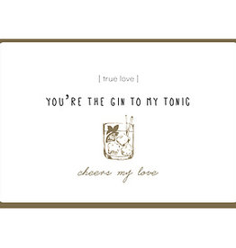 Enfant Terrible Enfant Terrible card + enveloppe 'you're the gin to my tonic'