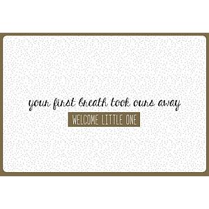 Enfant Terrible Enfant Terrible card + enveloppe 'your first breath'