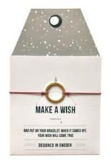 Timi Timi silk bracelet 'make a wish' pink - silver circle