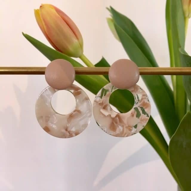 B-Jewels B-Jewels earrings silver 053- EG Beige