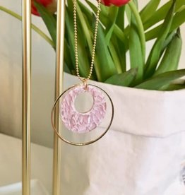 B-Jewels B-Jewels necklace gold 049-NG pink