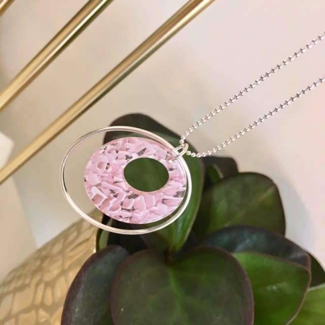 B-Jewels B-Jewels necklace silver 052-NS pink