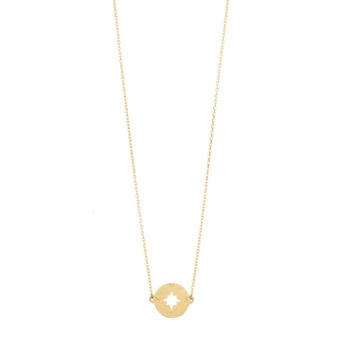 Timi Timi necklace gold - compass