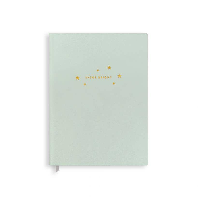 Katie Loxton Katie Loxton notebook Shine Bright - pale green 23.5x17.5 cm