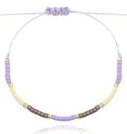 With love With love bracelet miyuki pearls lila - grey