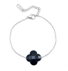 With love With love bracelet fashion facet clover dark blue
