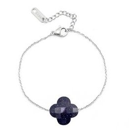 With love With love bracelet fashion facet clover dark blue glitter