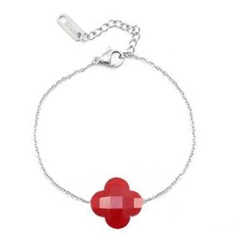With love With love bracelet fashion facet clover red