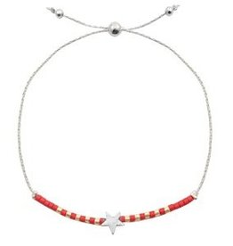 With love With love bracelet silver red 'star'