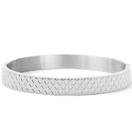 With love With love bangle silver squares large