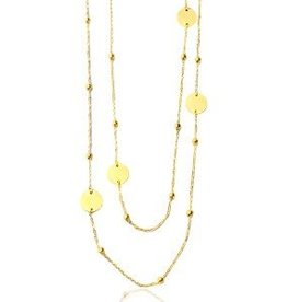With love With love necklace jasseron round ball gold