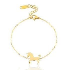 With love With love bracelet gold unicorn